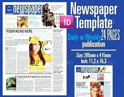 Free Indesign Newspaper Template Adobe Newspaper Template Ceansin Me