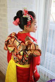 我孫子の七五三は日本髪