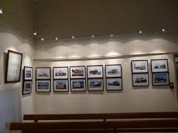the response to our then and now photographic display at the recent open day was very enthusiastic the new display lighting and gallery hanging system