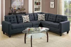 peta black fabric sectional sofa