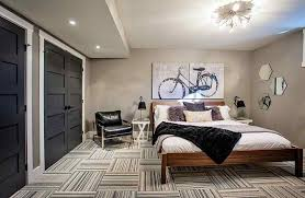 Creativity Dark Basement Decorating Ideas Bedroom With Large E Inside