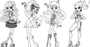 Small Picture Free Printable Monster High Coloring Pages Free Monster High 13