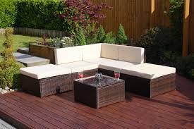 corner furniture piece. 6 Piece Lake Como Modular Rattan Corner Sofa Set In Brown With Light Cushions Furniture C