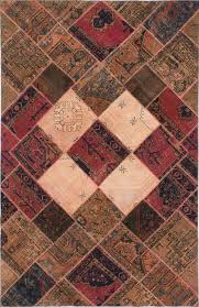 persian vogue patch dark burdy light brown wool rug hand knotted modern persian