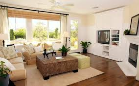 Living Room Wicker Furniture Casual Interior Design Style