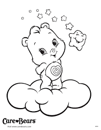 Small Picture Care Bears Wonderheart Coloring Printable Page Care Bears