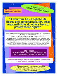 human rights student essay contest youth council for positive  this