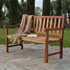 outdoor traditional 4 foot garden bench in durable red sa wood home and garden emporium