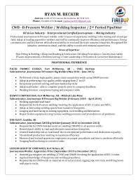 Welder Resume Amazing Ryan Becker Welding Resume