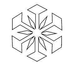 Snowflake Template Snowflake Cutout Instructions Snowflake