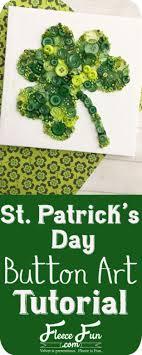 st pattys day home office decor. St Patricks Day Decor Ideas - St. Patrick\u0027s Clover Button Art DIY Pattys Home Office