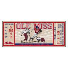 No team is going to want to take the ole miss rebels lightly this season, as this is a team that has some promising players on the roster and fans know that they can be right back in the hunt for a conference title if everything comes together. Fanmats Ncaa University Of Mississippi Ole Miss 30 In X 72 In Indoor Ticket Runner Rug 23148 The Home Depot