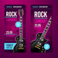 Rock Concert Tickets Template Vector 01 Welovesolo