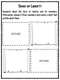 Boston Tea Party Cause And Effect Chart Boston Tea Party Facts Information Worksheets For Kids