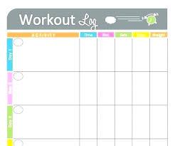 Exercise Tracker Spreadsheet Printable Exercise Log Workout Free