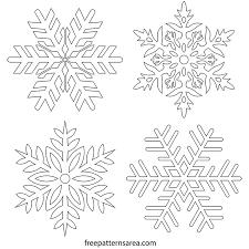 Free Snowflake Stencil Vector Freepatternsarea