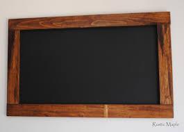 Chalkboard Kitchen Rustic Maple Wood Chalkboard For Our Kitchen