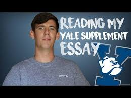 search result video supplement essay reading my accepted yale supplement essay