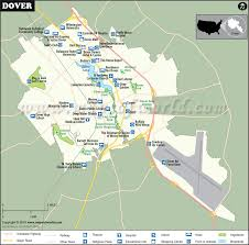 Dover Map The Capital Of Delaware Dover City Map