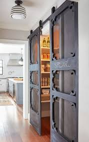 sliding barn doors for kitchen pantry