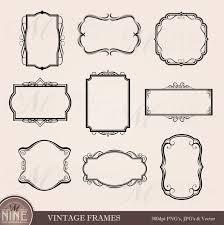 black vintage frame design. 🔎zoom Black Vintage Frame Design D