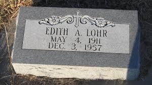 Edith A Scott Lohr (1911-1957) - Find A Grave Memorial