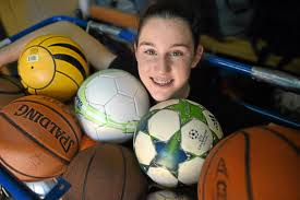 Emily Eisner's Play It Forward gives sports equipment, support to schools –  Daily News