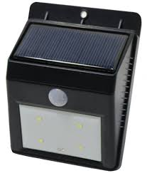 bentag 1w solar outdoor wall light pack of 1