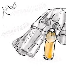 .45 Snub Nose Drawing by Albert Tennant