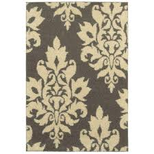 home decorators collection meadow damask gray 8 ft x 10 ft area rug