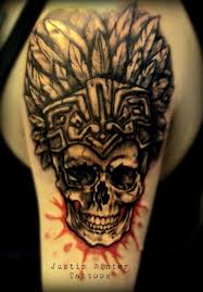 Aztec Tattoo Patterns Cool Aztec Skull Tattoo Patterns Tattoo Design Httptattoodesign