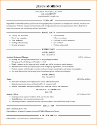 Hospitality Assistant Sample Resume Sample Resume For Hotel And Restaurant Management Best Of Sales 23