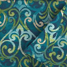 garden treasures 54 in w salito marine paisley outdoor fabric by the