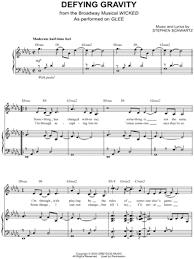 defying gravity sheet music