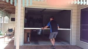image of screened retractable garage door screen
