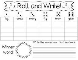 3rd Grade Sight Words Dolch Roll And Write High Frequency Words Dolch 1st 2nd And 3rd Grade