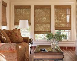 ... Light Brown Rectangle Unique Bamboo Woven Shades For Windows Stained  Design: Stunning woven ...