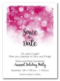 What Are Save The Date Cards Snowflakes On Hot Pink Holiday Save The Date