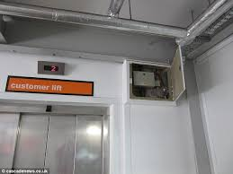he noticed the cover had come off a fuse box pictured near the lifts