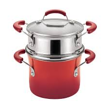 Non Stick Kitchen Appliances Rachael Ray Hard Enamel Nonstick 3 Quart Covered Steamer Set