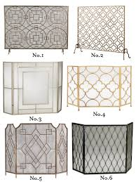 stylish fireplace screens