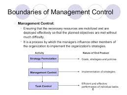 management control system 6 6 boundaries of management control