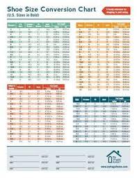 Keen Womens Shoe Size Chart Shoe Size Charts