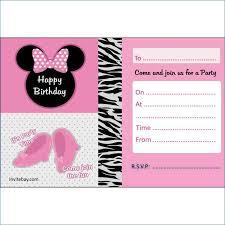 Minnie Mouse Blank Invitation Template Minnie Mouse Blank Invitation