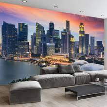 creative office environments. Custom Photo Wallpaper 3D Singapore City Building Night View Mural Living Room Office Backdrop Wall Decor Creative Environments