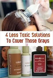 4 less toxic hair color solutions to cover gray hair