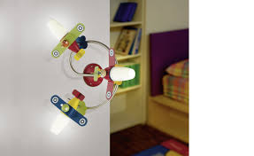 Eglo Lighting Siro Childrens 3 Light Led Wall Light Multi