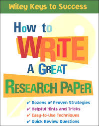 the different facets involved in writing a great research paper