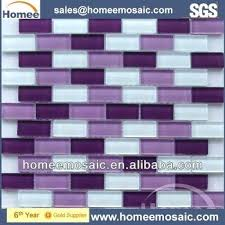 purple backsplash purple glass mosaic tile brick pattern for wall decoration purple glass tile kitchen backsplash