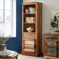 bookcases with doors and drawers. Indian Hub Coastal Reclaimed Wood Bookcase - 1 Door Drawer Bookcases With Doors And Drawers